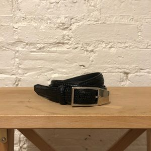 Theory Croc Embossed Leather Belt